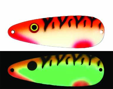 Moonshine Premium fishing lures - Tangerine Tiger made in Michigan